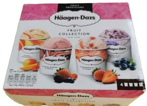 Häagen-Dazs Fruit Collect New Combi multipack 4x95ml