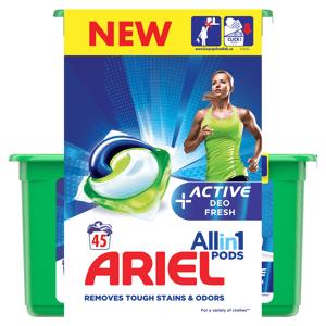 Ariel Active Sport All in 1 gelové kapsle 45ks