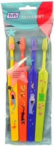 TePe Extra Soft ZOO dětské zubní kartáčky 4ks