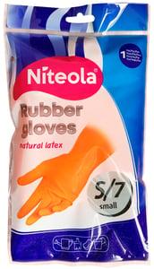 Niteola Rukavice gumové - latexové S, 1 pár
