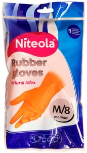Niteola Rukavice gumové - latexové M, 1 pár