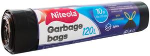 Niteola igelitové pytle na odpad pevné, zatahovací, 120l