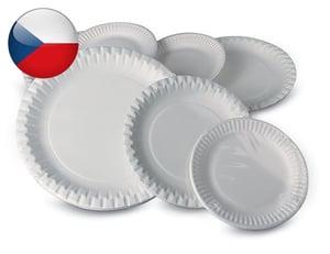 Papírový talíř průměr 15cm, 12ks