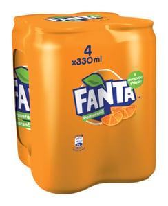 Fanta pomeranč 4x0,33l plech