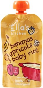 Ella's Kitchen BIO Dětská rýže - banán a meruňka