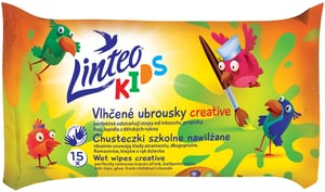 Linteo Kids Dětské vlhčené ubrousky školní