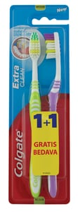 Colgate Extra Clean Střední zubní kartáček 2ks