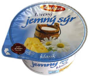 Laktos - jemný smetanový tavený sýr natur