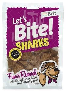 Brit Lets Bite Sharks pamlsky pro psy