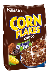 Nestlé CORN FLAKES Čokoládové snídaňové cereálie bezlepkové
