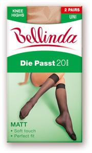 Bellinda silonkové podkolenky DIE PAST 2ks, tělové, vel. UNI
