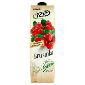 Rio Ovocný nápoj z brusinek a hroznů se stévií