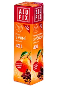 Alufix Pytle s vůní mandarinky, s uchy na zavazování, 40l, 17ks