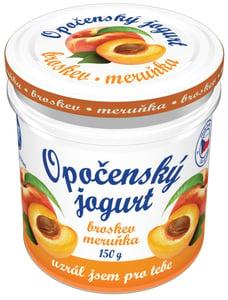 Bohemilk Opočenský jogurt ve skle broskev-meruňka
