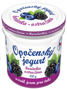 Bohemilk Opočenský jogurt ve skle borůvka-ostružina