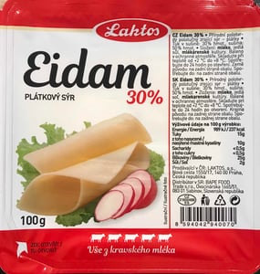 Laktos Eidam 30% plátky