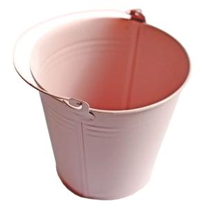 Květináč na bylinky kovový růžový, výška 13,5cm Ø 13cm, 1ks