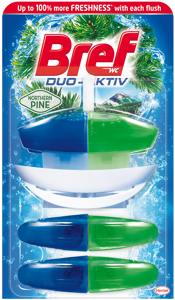 Bref DuoAktiv Pine WC blok + 2x náhradní náplň