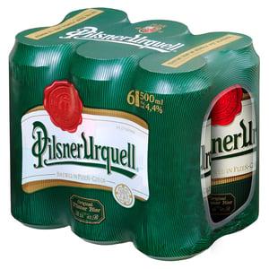 Pilsner Urquell Pivo ležák světlý 6x500ml plech