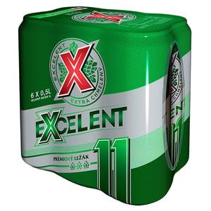 Excelent 11 pivo prémiový ležák 6x0,5l