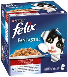 Felix Fantastic masový výběr kapsiček (24x100g) 4 příchutě