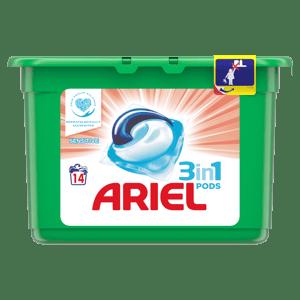 Ariel Sensitive gelové kapsle na praní prádla 3v1 14ks