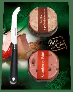 Pâté du Chef DuoPack Paštika s pečeným masem a Bruselská paštika s brusinkami