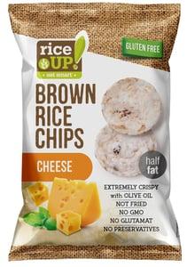 Rice Up Celozrnné rýžové chipsy - s příchutí sýru, bez lepku