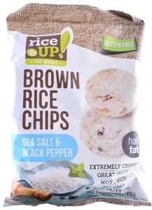 Rice Up Celozrnné rýžové chipsy - mořská sůl s černým pepřem, bez lepku