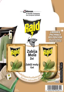 Raid Proti molům gel cedr 2ks