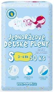 MonPeri dětské plenky S 3-6kg (velikost 2) 50ks