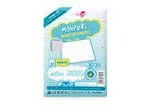MonPeri Jednorázové absorpční podložky M 60x60cm 25ks