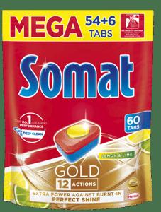 Somat Gold Lemon&Lime tablety do myčky 60ks