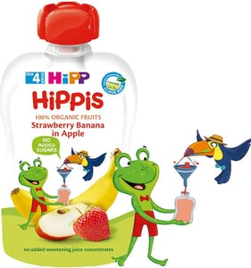 HIPP BIO Kapsička Hippis jablko-banán-jahoda