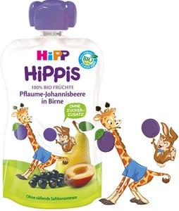 HiPP BIO Kapsička Hippis hruška-černý rybíz-švestka