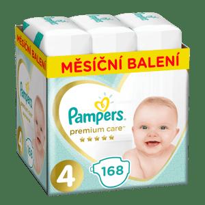 Pampers Premium Care plenky Maxi 8-14 kg (velikost 4) 168 ks
