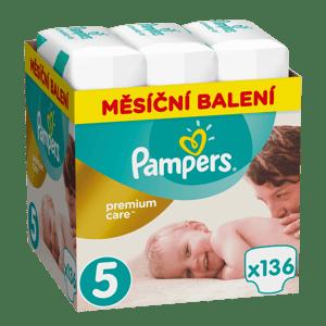 Pampers Premium Care dětské plenky Junior 11-16 kg (velikost 5) 136 ks