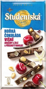 Orion Studentská pečeť Zlatá edice hořká čokoláda s višněmi