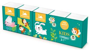 Harmony Kids papírové kapesníky 3vrstvé 10x10ks