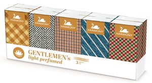 Harmony Gentleman's papírové kapesníky 3vrstvé parfémované 10x10ks