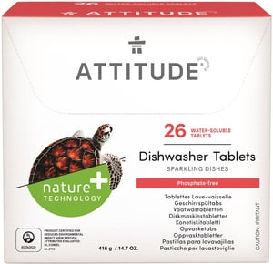 Attitude tablety do myčky bez fosfátů