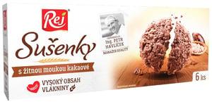 REJ Sušenky s žitnou moukou kakaové