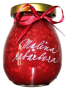 Marmelády s příběhem Malina-rebarbora extra džem výběrový
