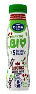 Olma BIO Jogurtový nápoj brusinka - černý rybíz
