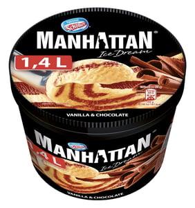 Manhattan vanilka a čokoláda