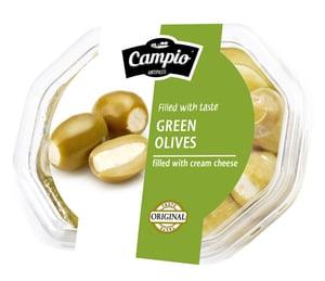 Campio Zelené olivy plněné sýrem