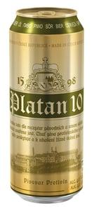 Platan 10 světlé výčepní pivo plech