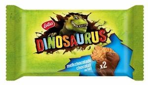 Lotus Dinosaurus sušenky polomáčené v čokoládě 2ks