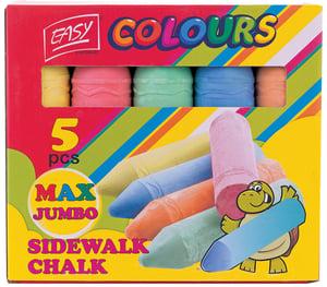 EASY Chodníkové křídy Colours Max Jumbo 5 ks