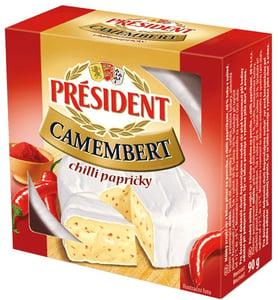 Président Camembert chilli papričky